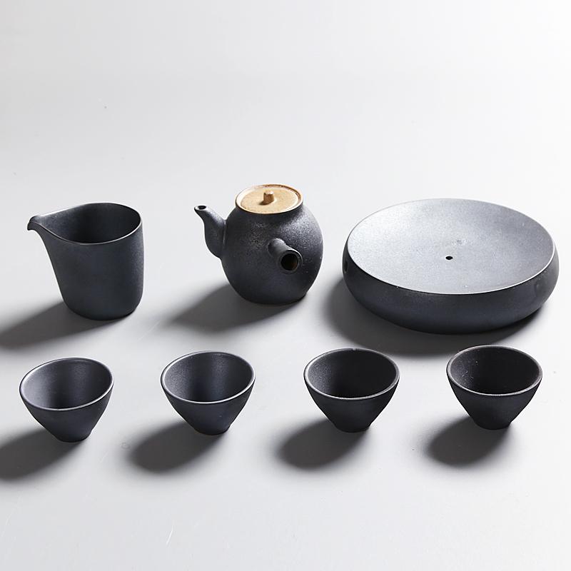 Drinkware Coffee Tea Sets,Japan Style Ceramic TeaPot Kettle Tea Cup Set,Kitchen,Dining Bar Japanese Tea Set with Pot Tray(China (Mainland))
