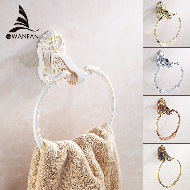 Bathroom chrome/golden/white finish Towel Ring Bathroom towel bar Accessories Products ,Towel Holder,Towel bar 5 styles 7604(China (Mainland))