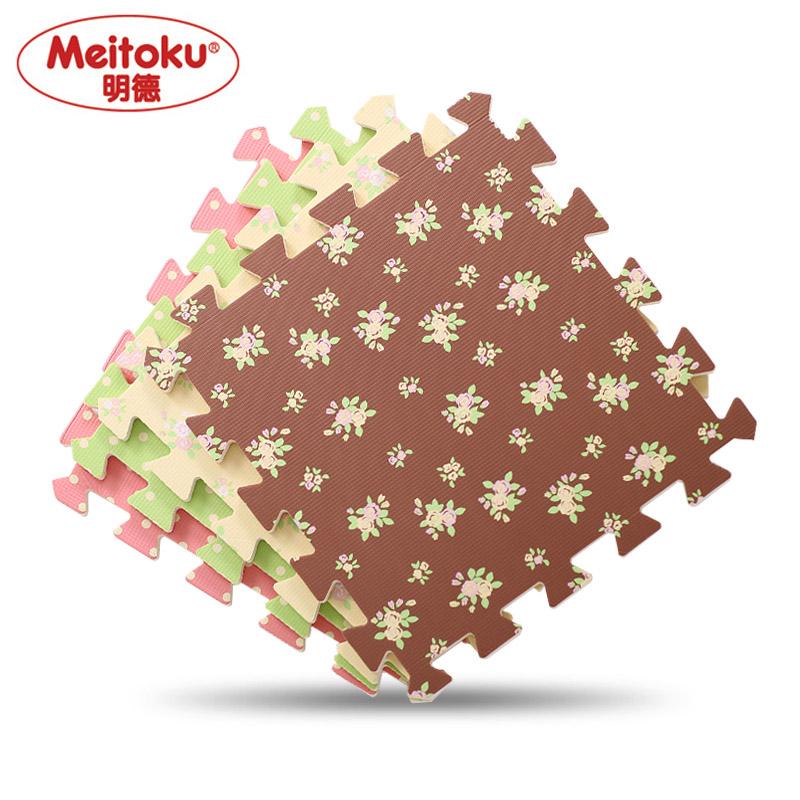 Meitoku Soft EVA Foam puzzle Play Mat 10pcs lot Exercise mat tiles interlock floor crawling pad