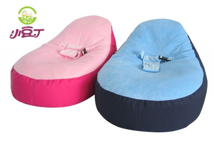 Baby game and travel bed kids bean bag chair covers baby for Round bed for kids