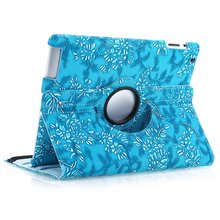 For Apple iPad 2 iPad 3 iPad 4 Case 360 Degree Rotating PU Leather Smart Stand Flip Case Cover Screen Protector Film(China (Mainland))