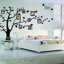 Buy Large photo frame 3d family tree wall stickers home decor removable wall pictures living room art wallpaper for $10.82 in AliExpress store