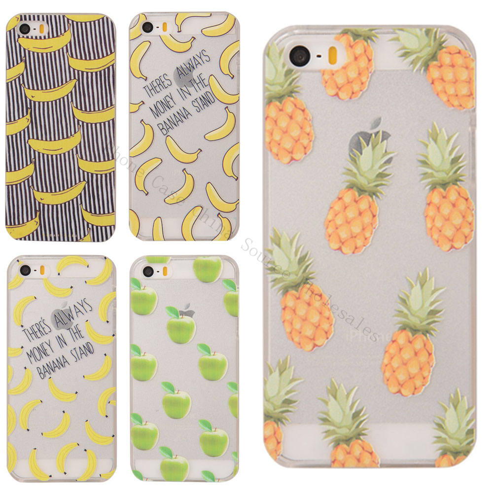 NEW NOVELTY Fruit Pineapple Banana Watermelon Case For Apple iPhone 4 4S 5 5S 5C 6 6S 6 Plus 6s Plus Case Hard Plastic Cover(China (Mainland))
