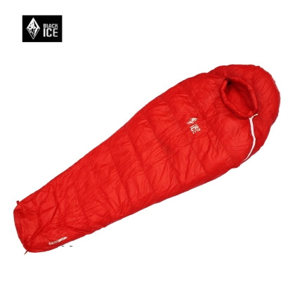G700 Ice Black Ultralight Outdoor Mummy type White Goose Down Camping Hiking Sleeping Bag Single M 75x195cm/L 80x205cm(China (Mainland))
