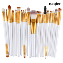Buy Naqier 20 pcs Makeup brushes sets Pro hair eyebrow foundation brush pen cleaner Cosmetics make brush set Blusher cosmetics for $5.40 in AliExpress store