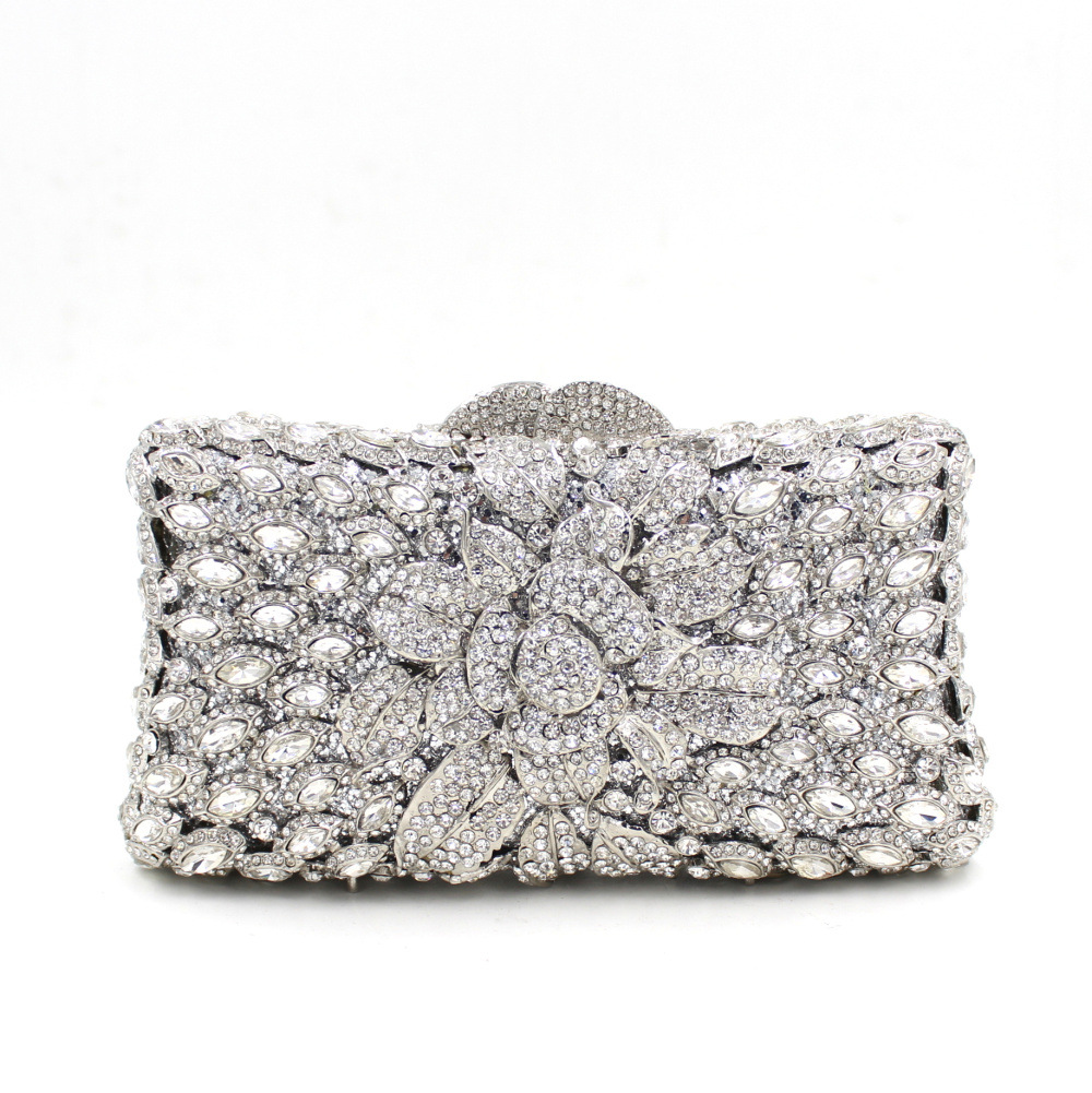 Inexpensive Clutch Purses For Wedding Silver Cheap Party Handbags