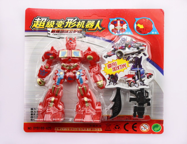 Children's creative card loaded deformation robot model toys and children's toys wholesale free shipping(China (Mainland))