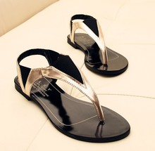 Flip-Flops Summer Style 2015 Ladies Shoe Mature Casual Women Sandals Patch Geometric Women Flats