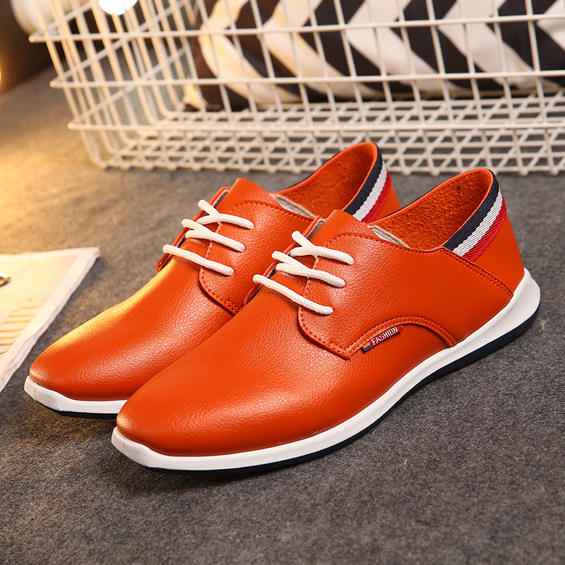 New Fashion Leather Men Casual Shoes Summer Loafers Flats Lace up Rubber Men Superstar Oxford Shoes Zapatos Mocassin Homme LA17(China (Mainland))