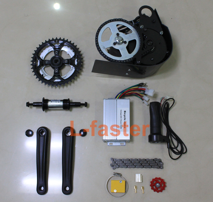 ( New )60V 650W or 48V 450W ELECTRIC BRUSHLESS MOTOR MID-MOUNTED ELECTRIC BIKE KIT Electric Bicycle Conversion Kit GNGEBIKE 650W(China (Mainland))