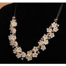 Costume Crystal Flower Choker Chunky Statement Bib Chain Necklace Pendants(China (Mainland))
