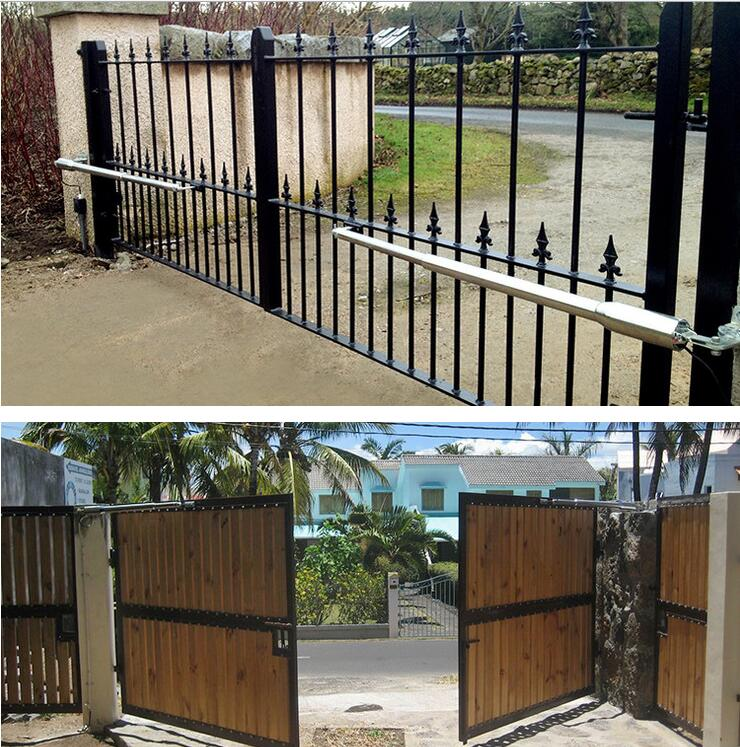 Stainless steel IP66 DC24V 300kg per leaf Swing automated gate operator Dual swing gate opener kit Double Swing Gate motor Kit(China (Mainland))
