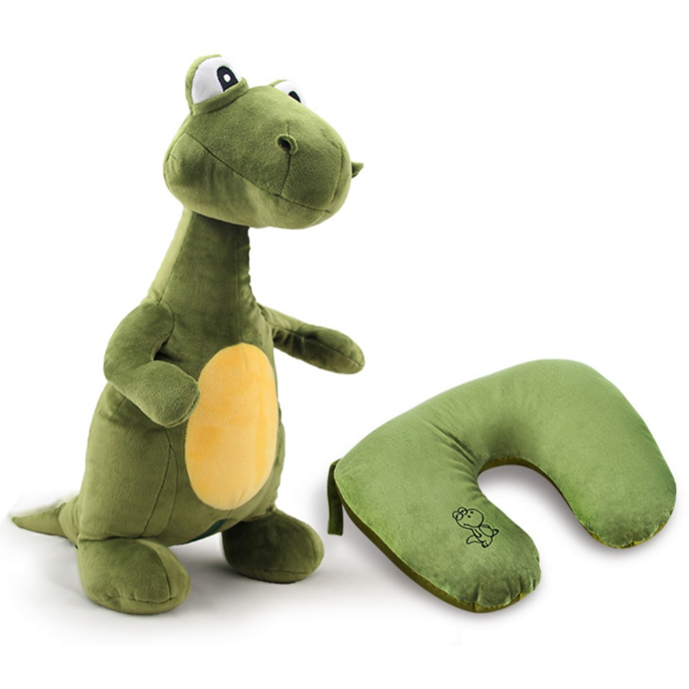 Lovely Animal Plush Toy may Deform U Pillow Multifunctional Plush Toys Safe Comfortable Neck Soft Cushion Dinosaur Large animals(China (Mainland))