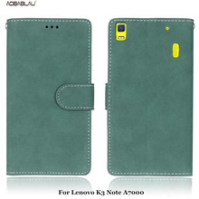 For Lenovo K3 Note A7000 Retro frosted skinSoft Leather For Lenovo K3 Note A7000 Flip Slots Card phone case