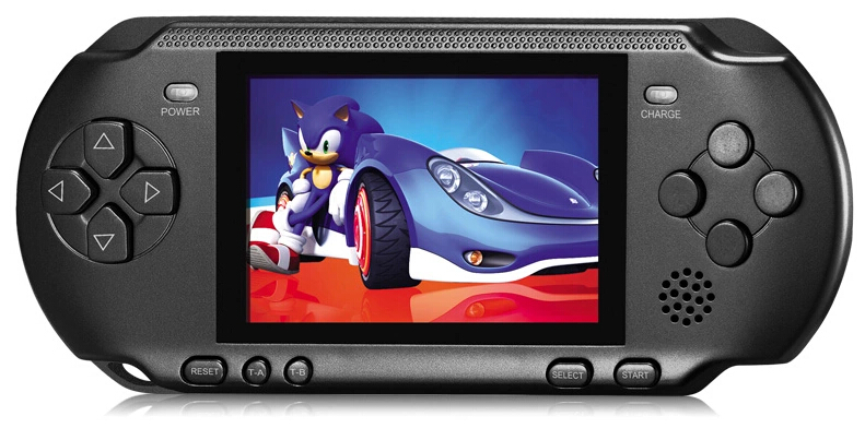 New Handheld Game Console 3.2 inch Children Game Machine CoolBaby Built 318 Games Classic FC Game PSP Support AV Double Player(China (Mainland))