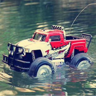 Large 4-wheel Drive Electric Car Remote Control Hummer Amphibious Land Water Sport Utility Off-road Vehicle Charging Model Toy(China (Mainland))