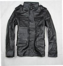 2016 Plus Size 5XL 6XL 7XL 8XL Coat Cowskin Leather Jacket Man Hunting Motorcycle Leather Jacket Cowhide Genuine Leather Jacket(China (Mainland))