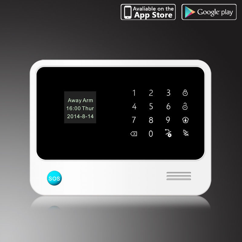 WiFi Wireless GSM SMS Home Security Alarm System IOS Android Control RFID Keypad WiFi Alarm System