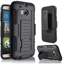 Duty Armor Case For HTC M8 Case Stand Belt Clip Hybrid Outdoor Black Cover For HTC One M8 M8s Shockproof Hard Case(China (Mainland))