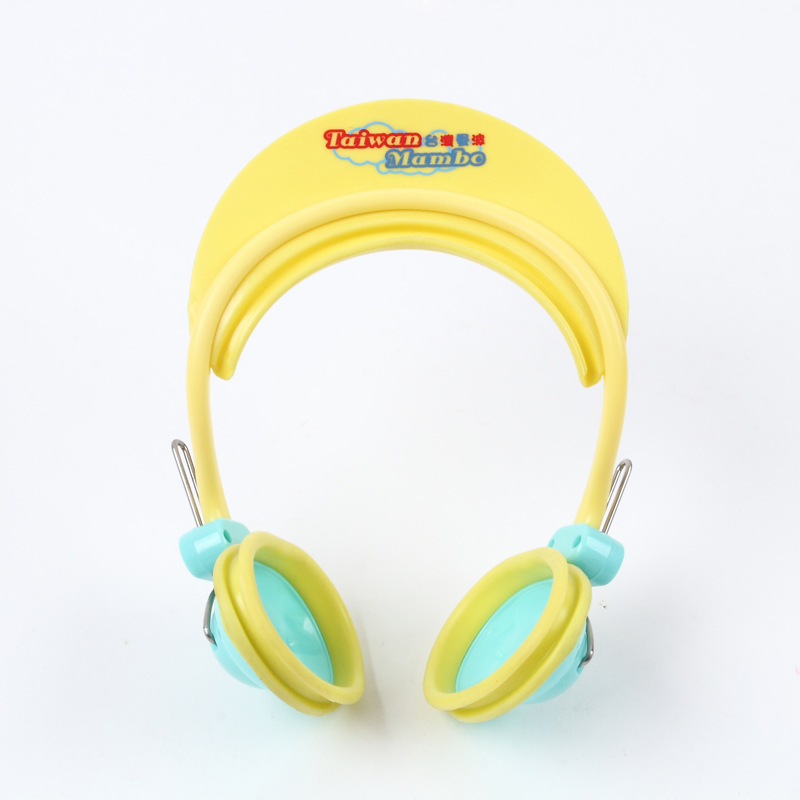 2016 New Baby Shampoo Cap Kids Ear Muffs Cap Bath Visor Hat PVC Adjustable Kids Shower Cap Baby Care Products(China (Mainland))
