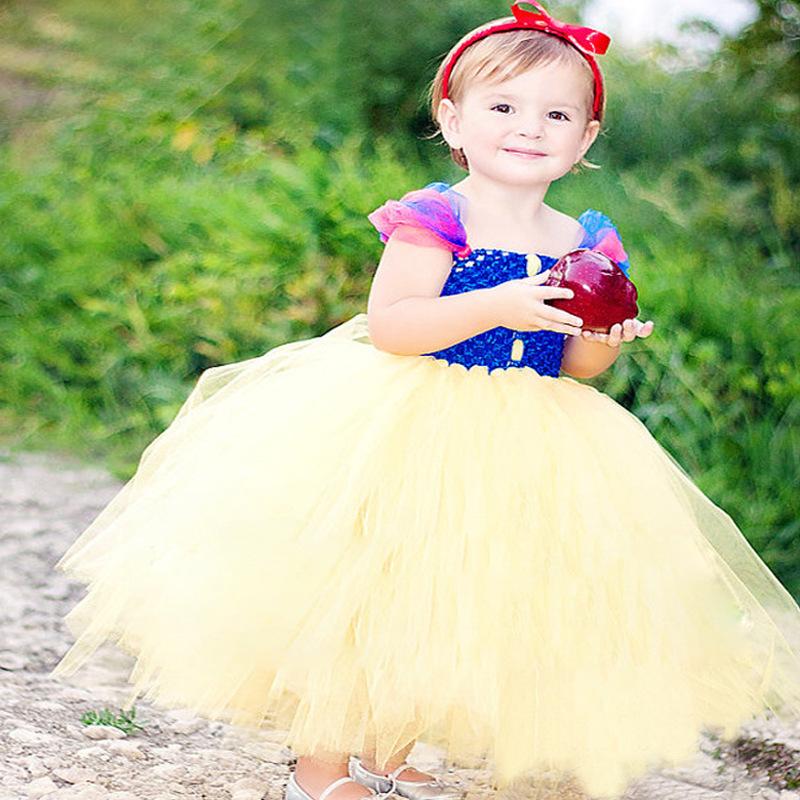 Retail Snow White Baby Girls Tutu Dress For Baby Girl Wedding /Birthday/ Party Tutu Vestidos Toddler Clothing Baby Dress(China (Mainland))