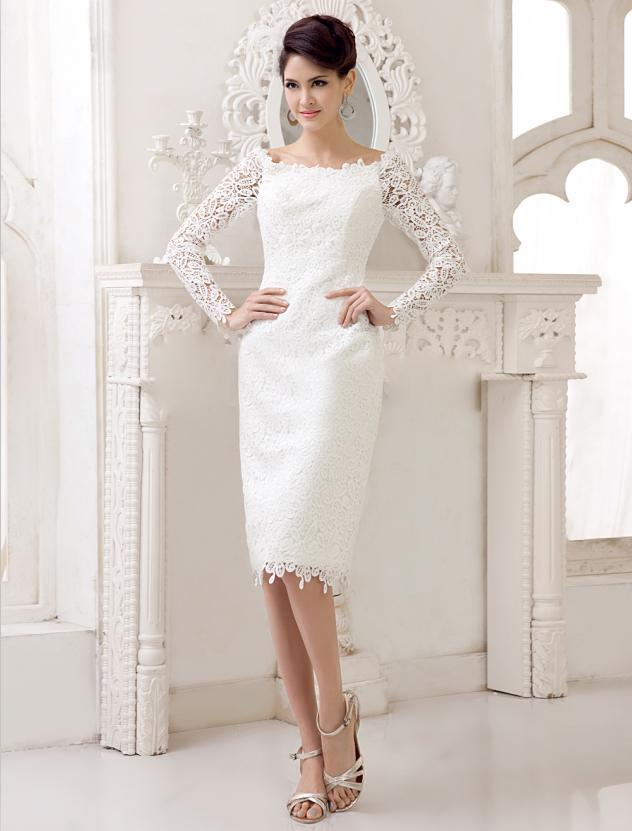 Compare Prices On Short Wedding Dress With Long Sleeves