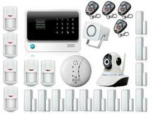 free DHL APP Controlled GSM WIFI Alarm System Wireless Security Smart GPRS Home RFID Alarm System with Surveillance IP Camera