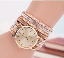 Watches Woman 2015 European Style Clock New Jewelry Long Chain shine big round crystal Dress Casual