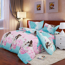 Pink Lover Reactive Printing Bedding Set Fashion Bed Sheet / Duvet Cover / Pillowcase,  3-4 Pcs Winter Comforter Bedding Sets