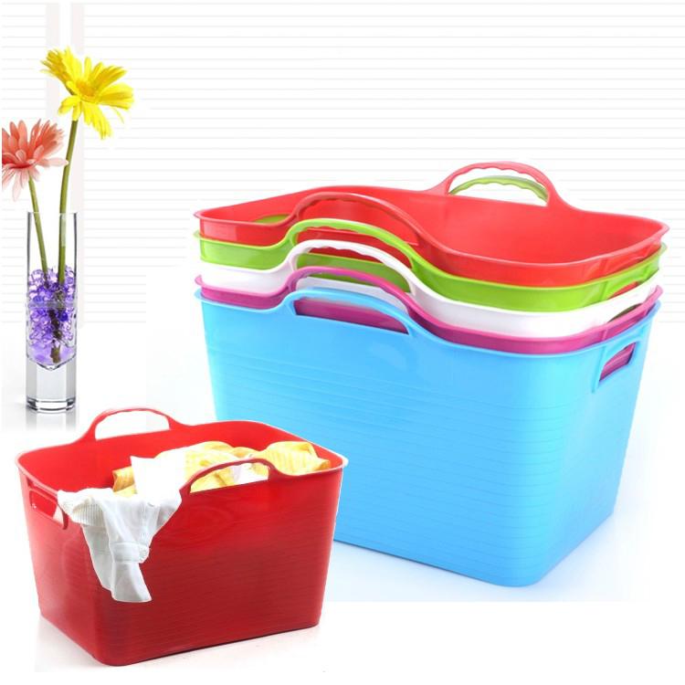 Honey Honey Flower Portable Shopping Basket Thickening Of