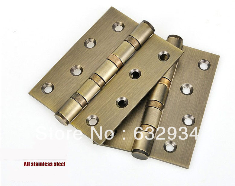 """4"""" STAINLESS STEEL FOUR BALL BEARING FLAT HEAD DOOR HINGES(China (Mainland))"""