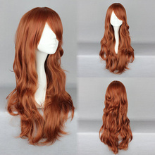Fashion Cosplay Lolita Wig Women Full Long Curly Wavy Brown Red Hair Wig-441A(China (Mainland))
