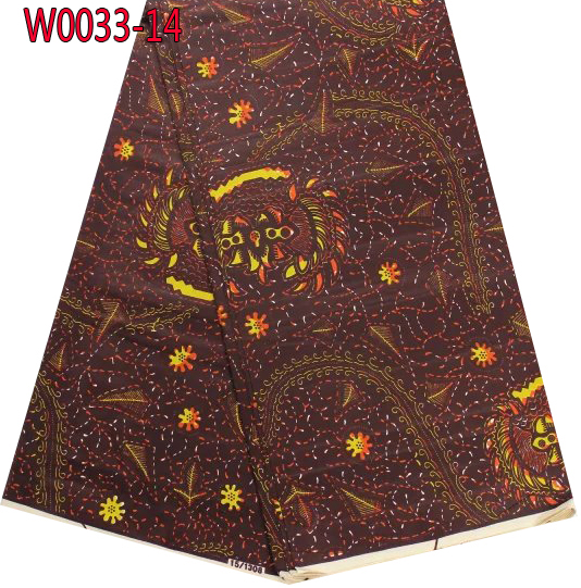 Newest 100% cotton super hollandais wax fabric,top quality African real wax fabric,batik wax fabric for lady dress!   W0033-14