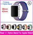 2016 New Releases 7 Colors 1 1 Nylon Watchband For Apple Watch 42mm 38mm With Original