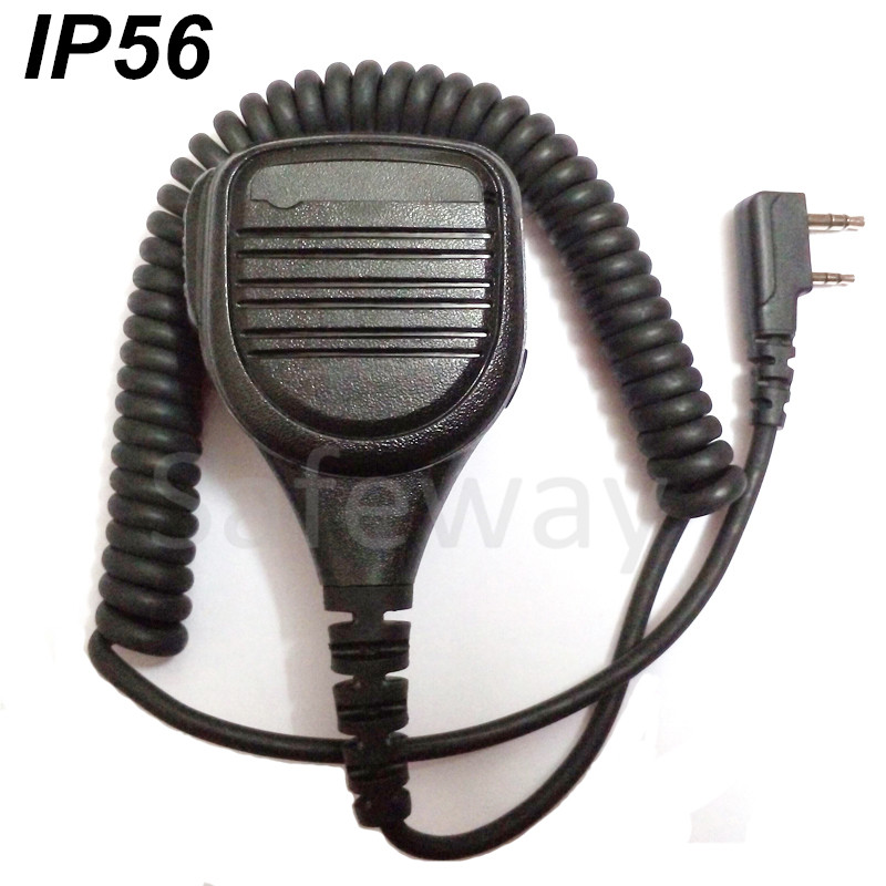 Remote quality waterproof IP56 two way radio speaker mic for Kenwood two pins TK-320,TK3107 free shipping(China (Mainland))