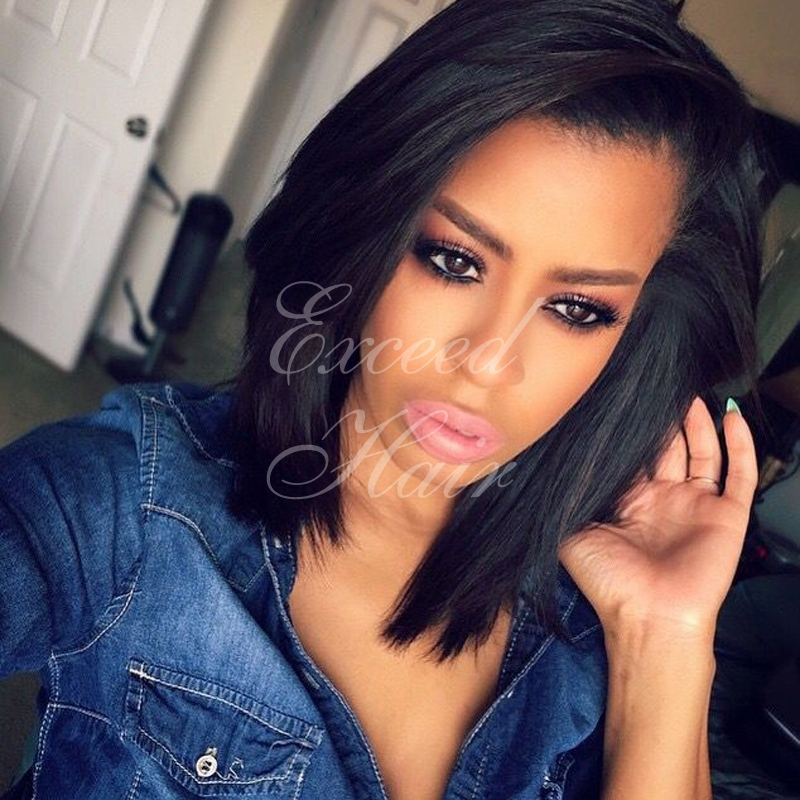 lace wig glueless human hair lace front short bob wigs for black women ...