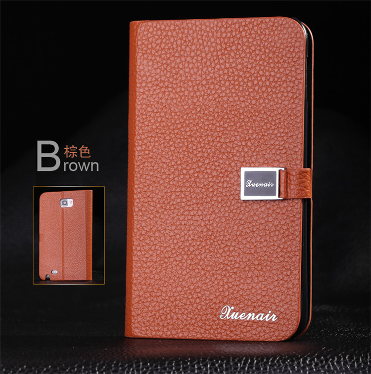 Luxury Genuine Leather Case For Samsung Galaxy Note 1 N7000 7000 I9220 9220 mobile phone case with stand function 3 Card Holder(China (Mainland))