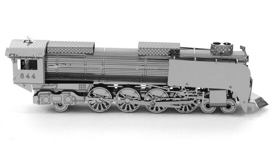 DIY Model Metal 3D Puzzle Models Metallic Nano Puzzle DIY Steam Locomotive Laser Cut 3D Model Toy,Free Shipping(China (Mainland))