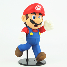Super Mario 21cm Running Figure With Base Japan Action Figure Anime Collection Kids Toys With Nice Package #F