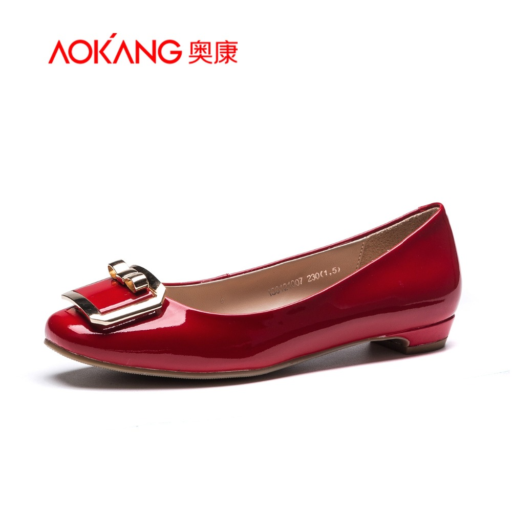 AOKANG 2015New Arrival Fashion Ladies Shoes with Metal Button Elegant and Comfortable<br><br>Aliexpress
