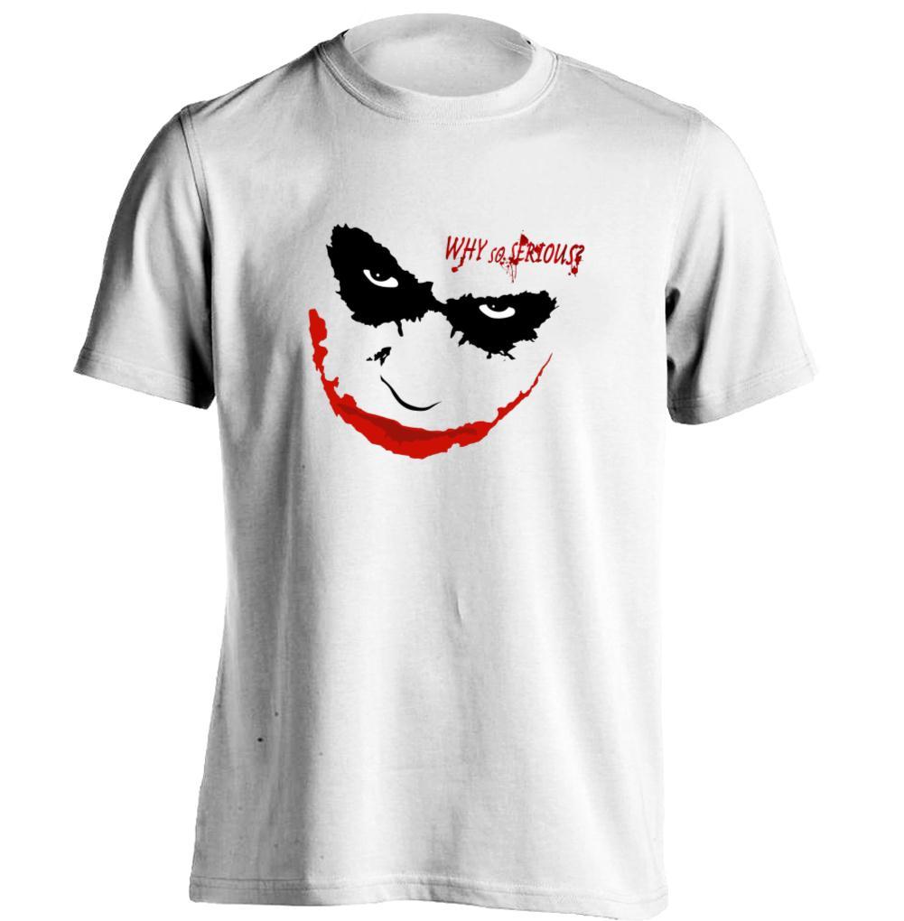 Why So Serious Joker Heath Ledger Mens & Womens Retro T Shirt Custom T Shirt(China (Mainland))