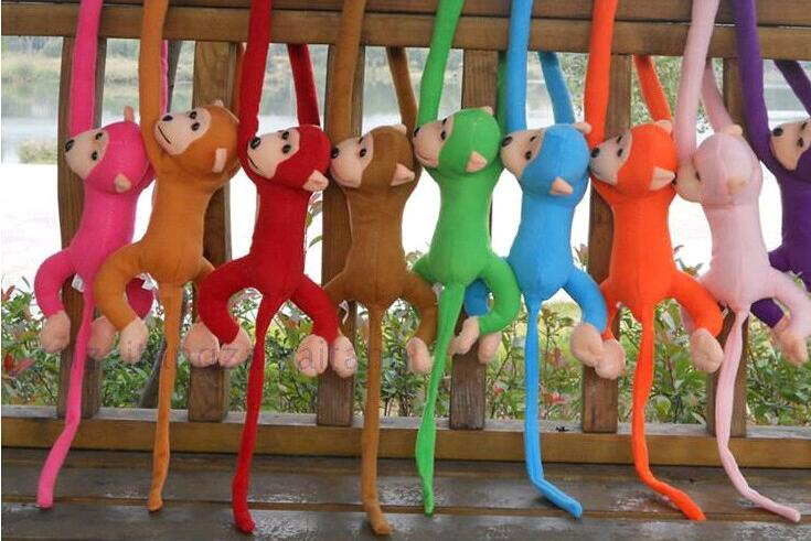 1pcs 70cm long arm monkey from arm to tail plush toys colorful Action Figure monkey curtains stuffed animal doll baby gift(China (Mainland))