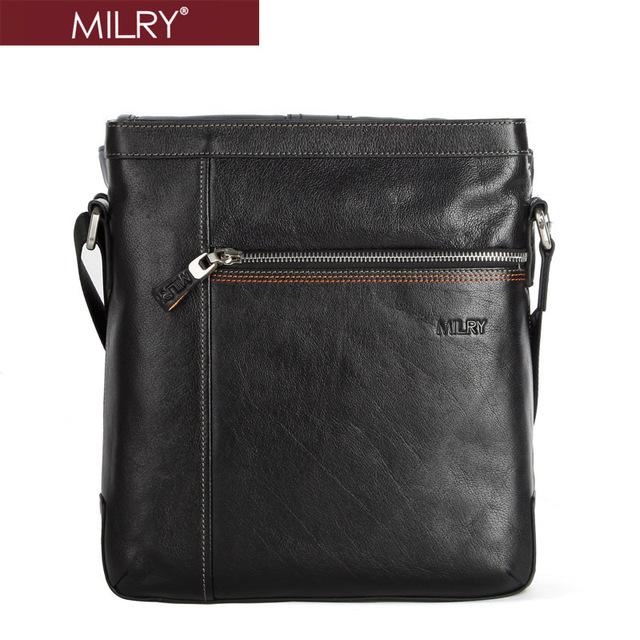 2013 New fashion MILRY 100% Genuine Leather shoulder bag for men messenger bag cross body business bag  S0071