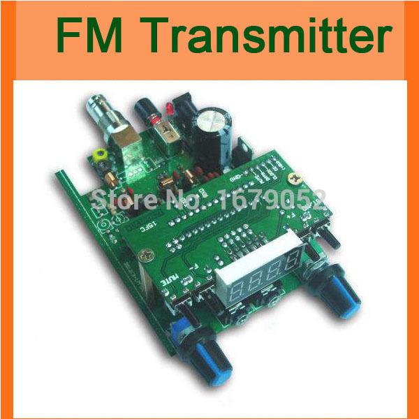 Free shipping : FM Transmitter Digital LED 87-108MHZ Radio 1W PLL Station FM Stereo Transmitter board 12v DC TV Q9(China (Mainland))