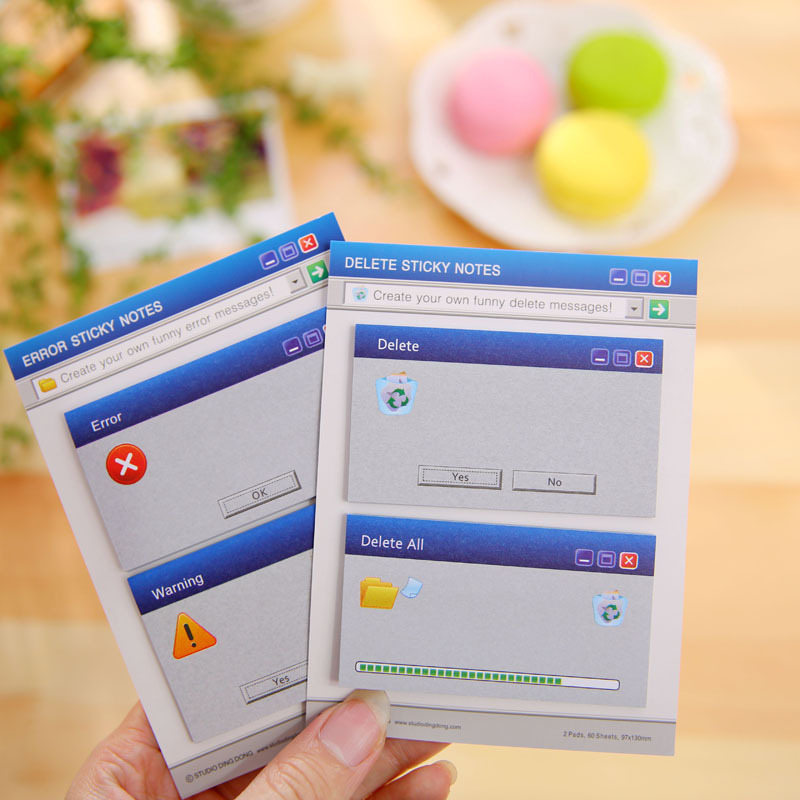 60Pages/Set Cute Computer System Shape Memo Pad Diy Stickers Diary Stationary Set Kawaii Stickers Cute Post It Office Supplies(China (Mainland))