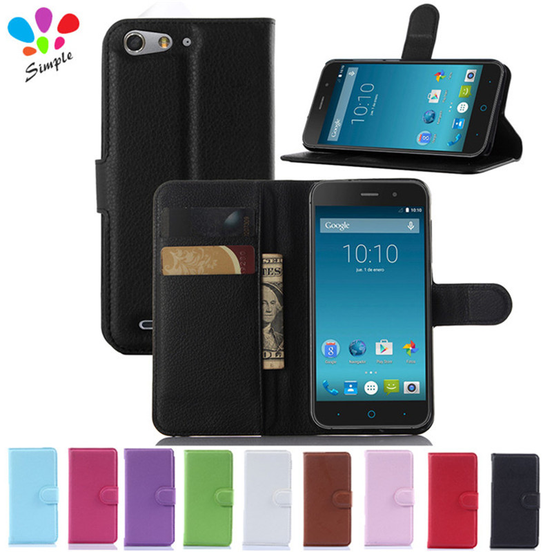 Luxury Wallet PU Leather Cover Case For ZTE Blade D6 V6 Case Flip Phone Case Back Cover For ZTE Blade D6 Case With Card Holder