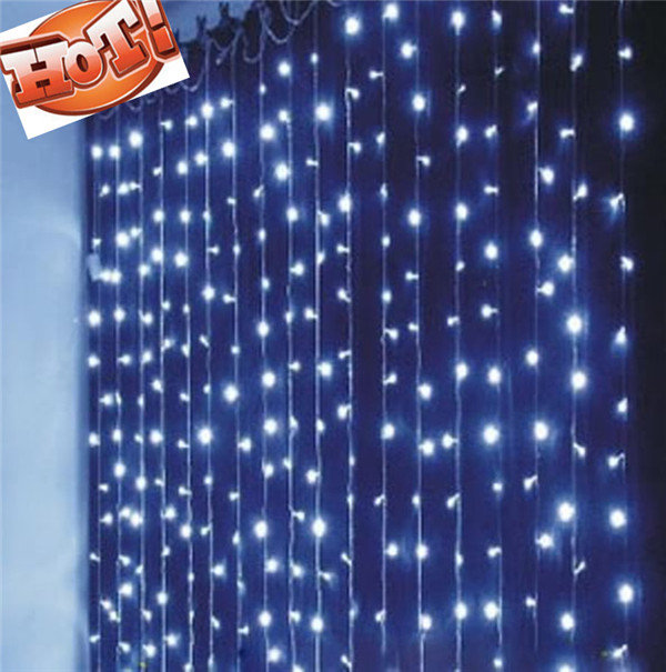 String Lights Backdrop : Wedding supplies christmas lights curtain light 6x3 meters led string of lights Wedding ...