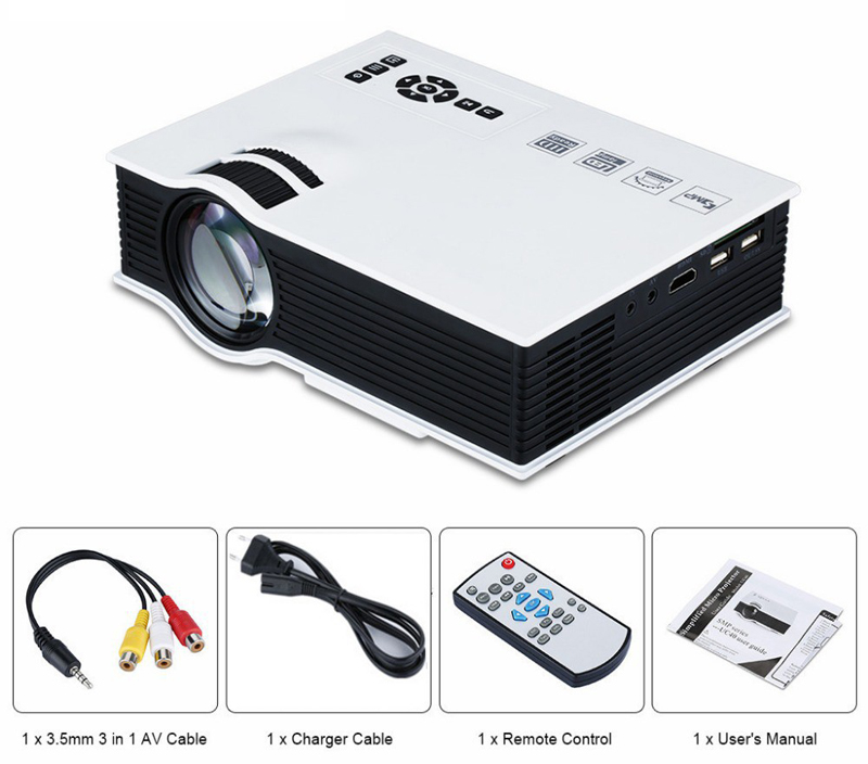 2015 Original UNIC UC40 Mini Portable Projector with USB HDMI Home Theater beamer multimedia Digital LED Video HD Projector<br><br>Aliexpress