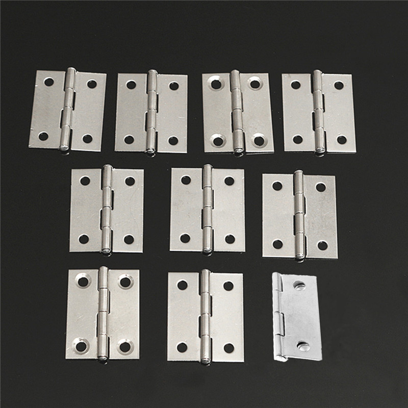 Durable New 10pcs Stainless Steel Butt Hinges For Cabinet Drawer Door 1.5 inch Length Widely Used For Door(China (Mainland))