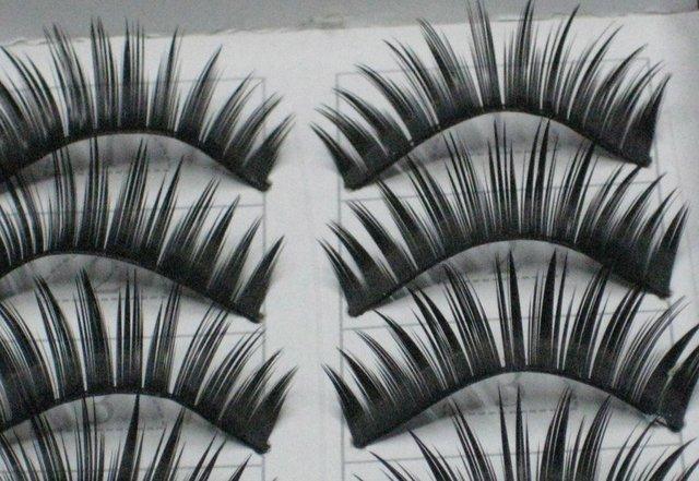 free shipping Hand-made False eyelashes 100pairs /lot (10pairs=1 box)  C009